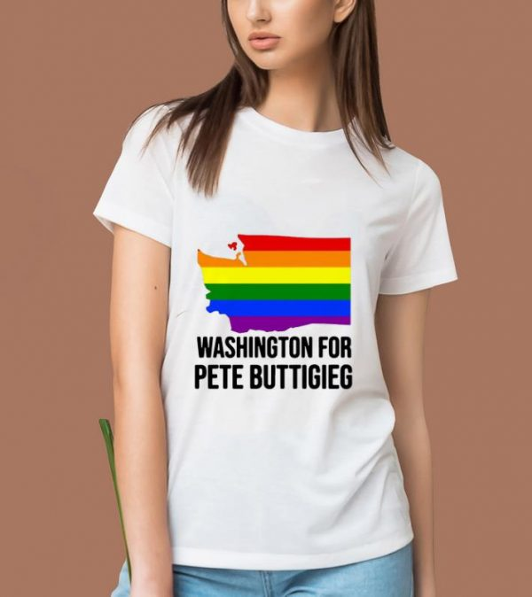 Premium Washington For Pete Buttigieg Lgbt Vote 2020 shirt