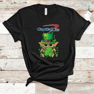 Pretty Baby Yoda Capital One Shamrock St.Patrick's Day shirt