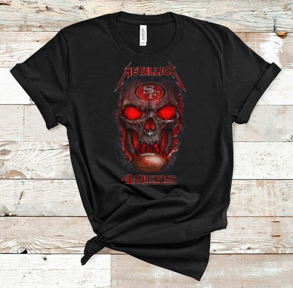 Pretty Metallica 49ers NFL Skull San Francisco 49ers shirt