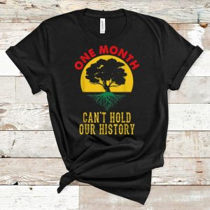 Pretty One Month Can't Hold Our History Black History Month shirt