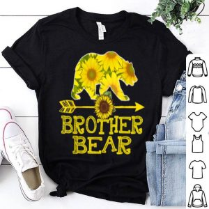 Awesome Brother Bear Sunflower Funny Mother Father Gifts shirt