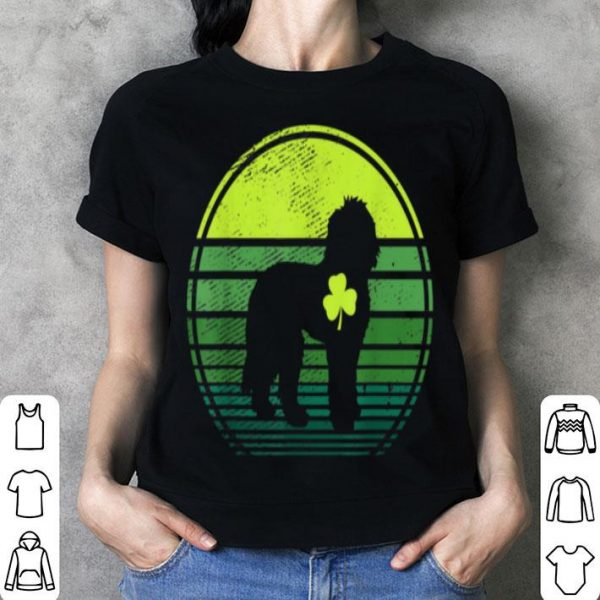 Awesome Doodle Dog Silhouette Irish Clover St Patricks Day shirt