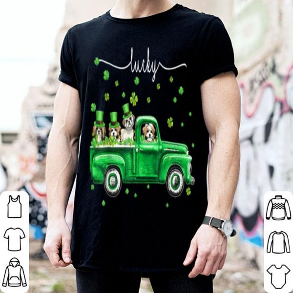 Awesome Lucky Shih Tzu Dog Shamrock St Patrick's Day Lover Gifts shirt