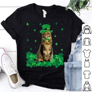 Awesome St Patrick's Day Maine Coon Irish Shamrock Cat Lover shirt