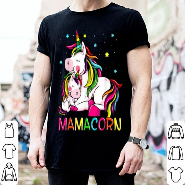 Beautiful Official Mamacorn Mother's Day Unicorn Mom Mom Women Gift shirt