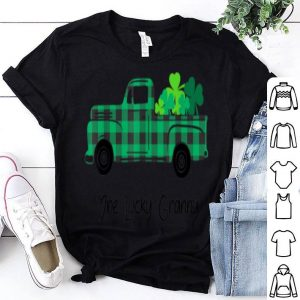Nice Buffalo Plaid Truck One Lucky Granny St Patricks Day shirt