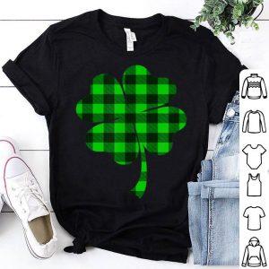 Official Cute Shamrock Buffalo Plaid St Patrick's Day Irish Love Gift shirt