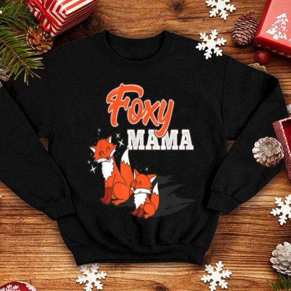 Official Foxy Mama Cute Mom Fox Funny Animal Mommy Gift shirt