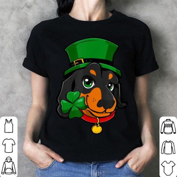 Official St Patricks Day Dachshund Leprechaun Dog Lover Gifts shirt