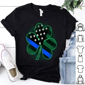 Official Thin Blue Line St Patrick's Day Clover shirt