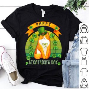 Original Happy St.catrick's Patrick's Day Vintage Cat Lover shirt