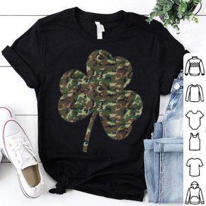 Original Irish Military Camoflauge Shamrock St Patricks Day shirt