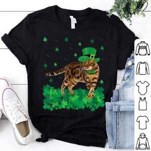 Pretty St Patrick's Day Bengal Irish Shamrock Cat Lover shirt
