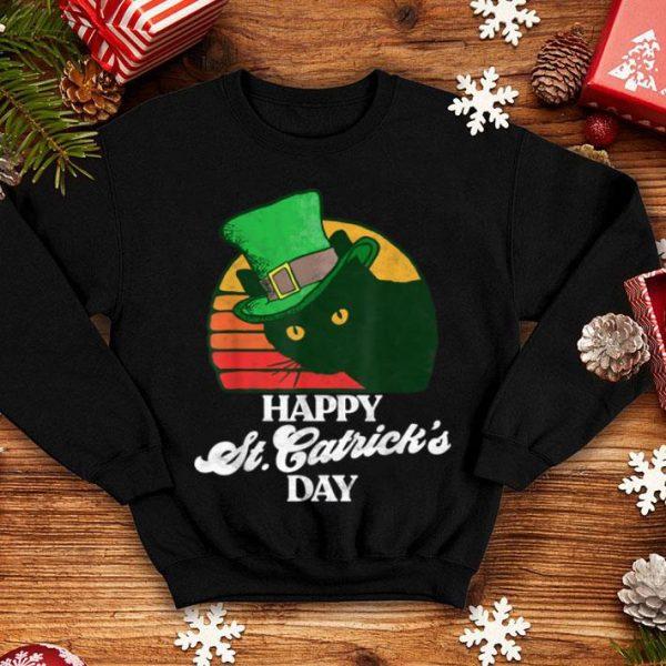 Top Funny Happy St Catrick's Day 80's St Patricks Cat Retro shirt