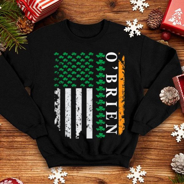 Top Shamrock Usa Flag St Patrick's Day O'brien shirt