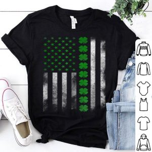 Top St. Patrick's Day Irish American Flag shirt