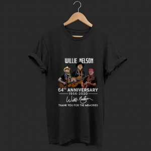 Top Willie Nelson 64th anniversary thank you for the memories signature shirt