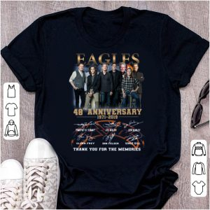 Awesome Eagles Band 48th Anniversary Thank You For The Memories Signatures shirt