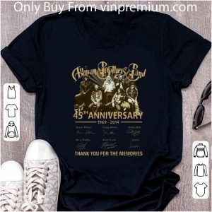 Official Allman Brothers Band Thank You For The Memories Signatures shirt