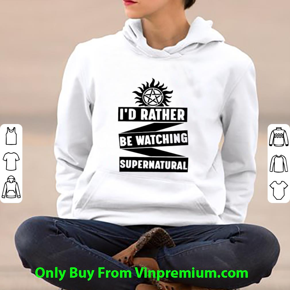 Pretty I d Rather Be Watching Supernatural shirt 4 - Pretty I'd Rather Be Watching Supernatural shirt