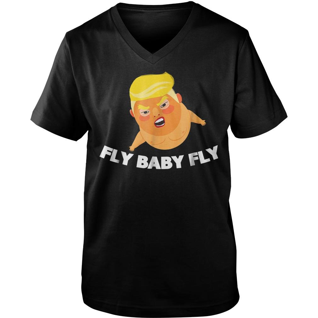 Trump Fly Baby Fly T-Shirt Guys V-Neck