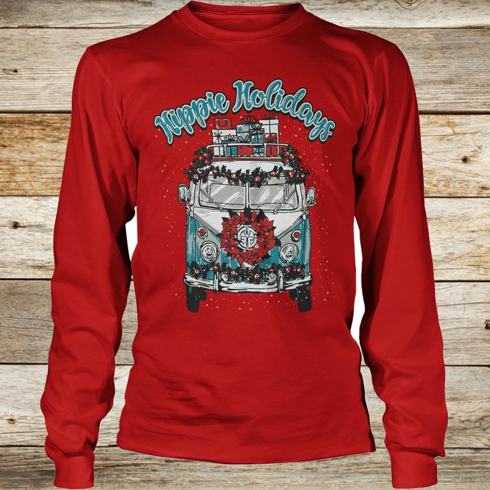Christmas Hippie Holidays Sweatshirt Longsleeve Tee Unisex