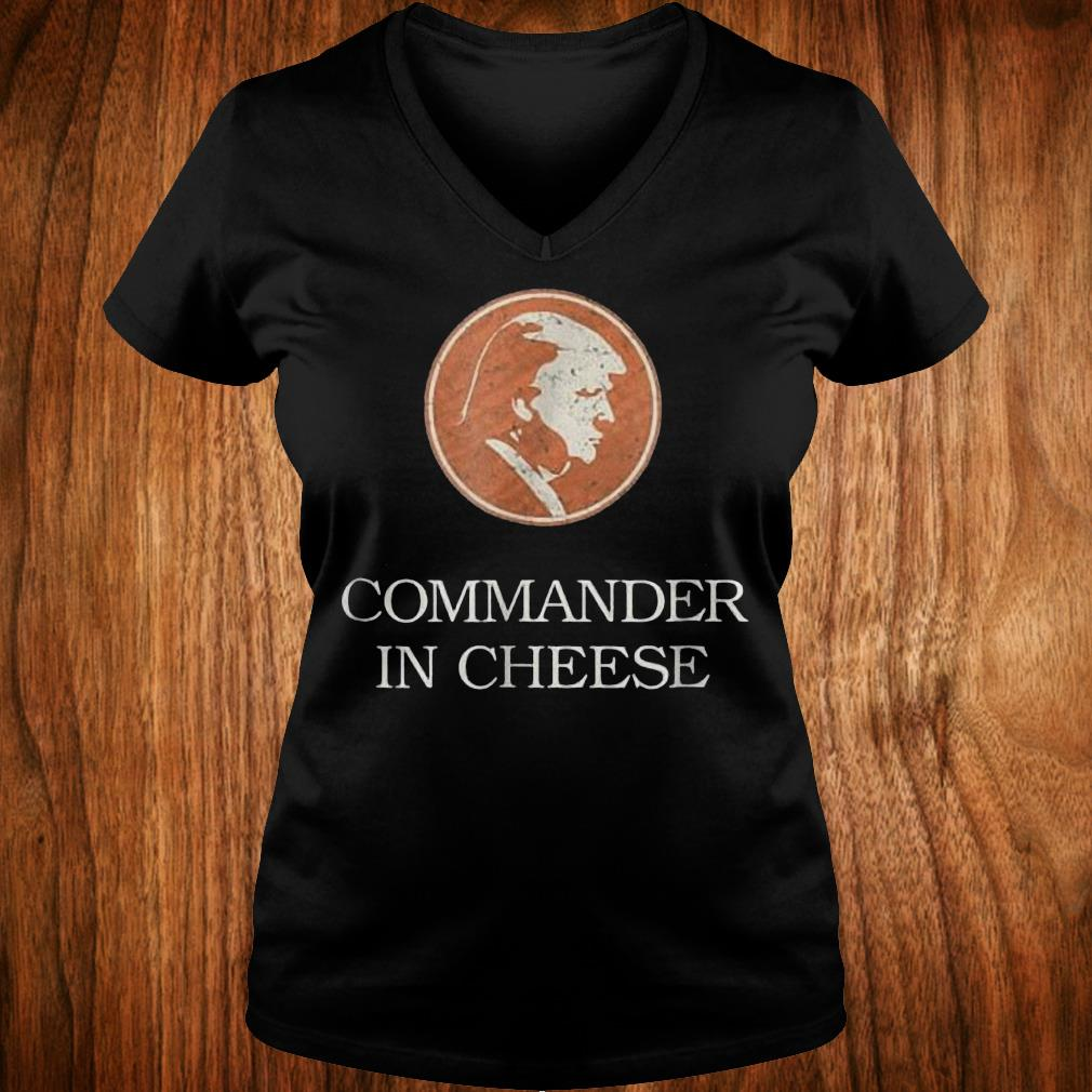 Commander in cheese Donald Trump funny political Shirt Ladies V-Neck