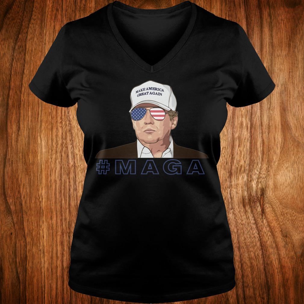 Donald Trump MAGA make America great again shirt Ladies V-Neck