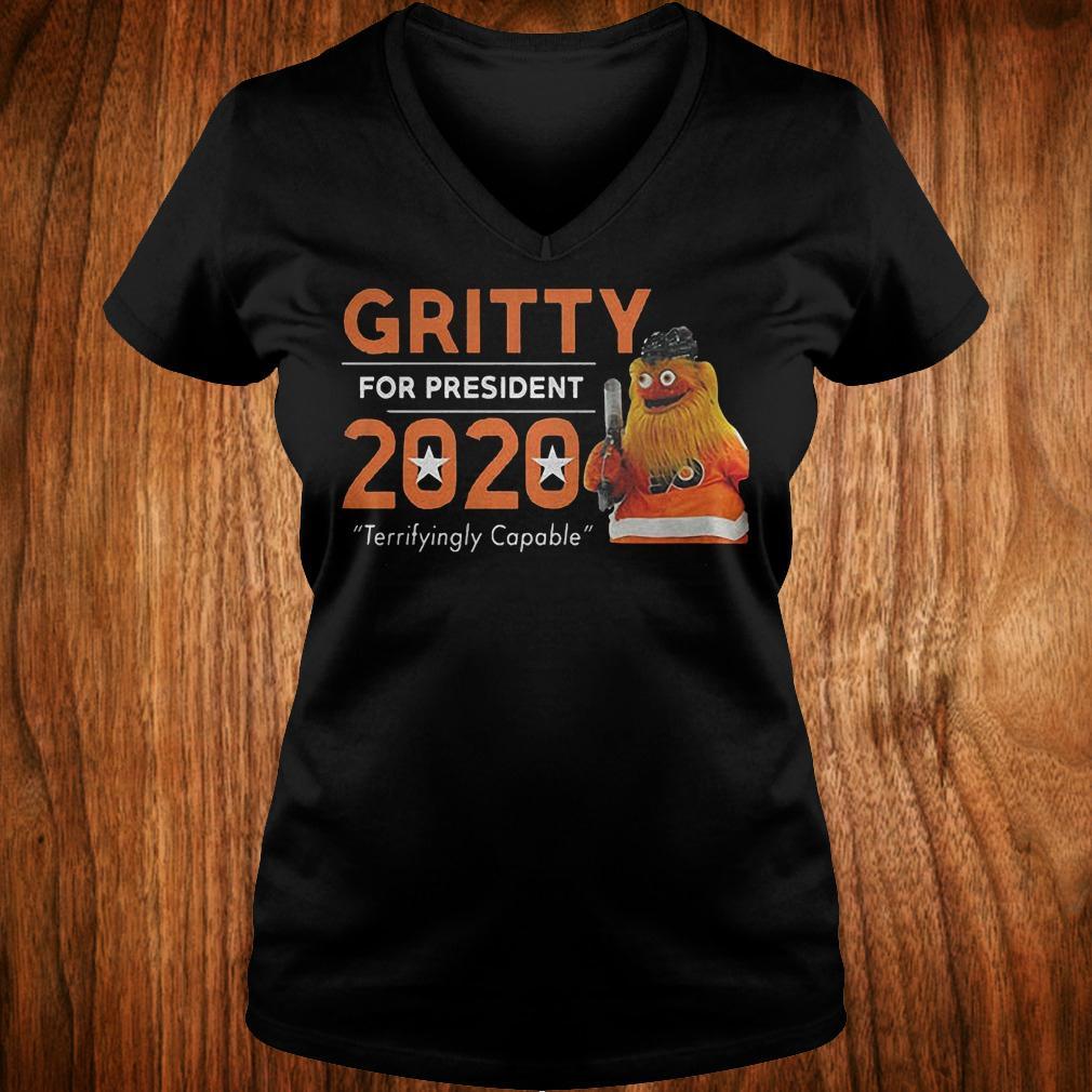 Gritty for president 2020 shirt Ladies V-Neck