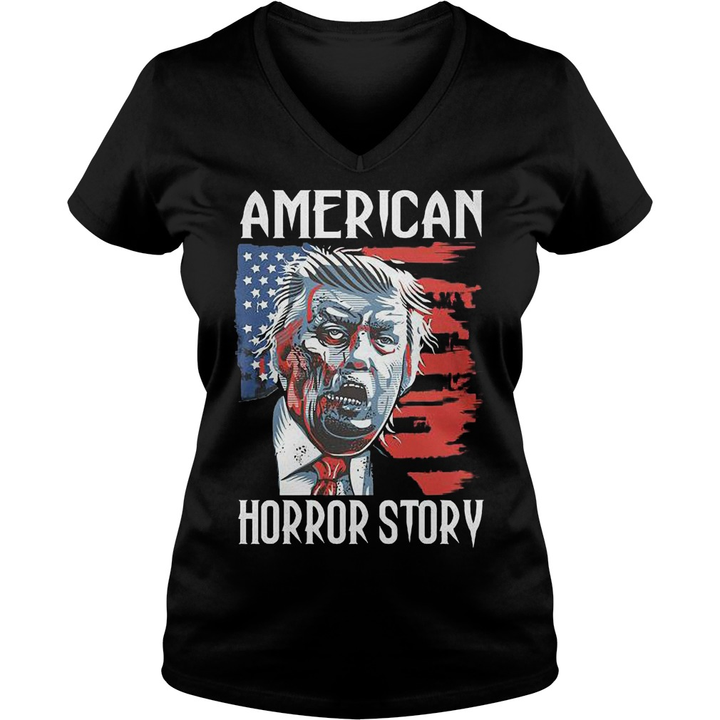 Halloween Trump Zombie American Horror Story Shirt Ladies V-Neck