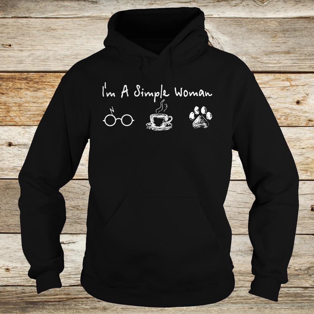 I'm a simple woman I like Harry Potter Coffee and Dog shirt 1