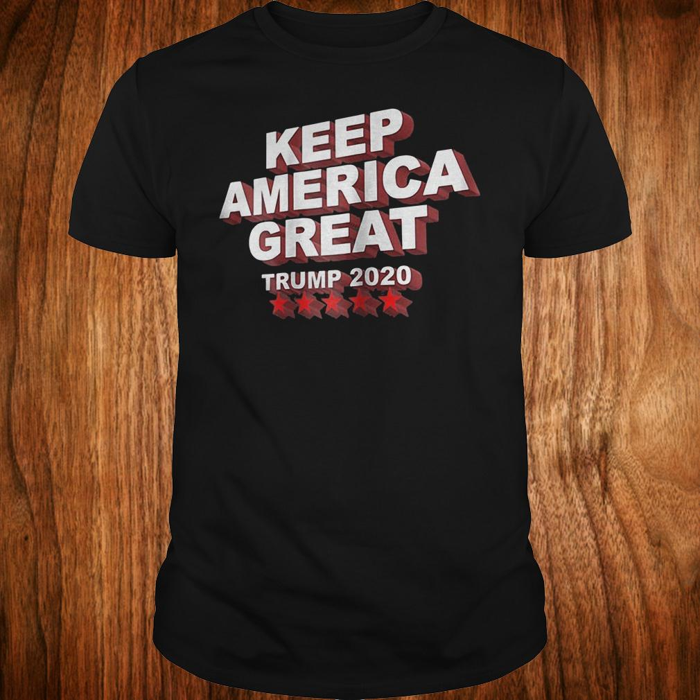 Keep America great Trump 2020 five stars shirt Classic Guys / Unisex Tee