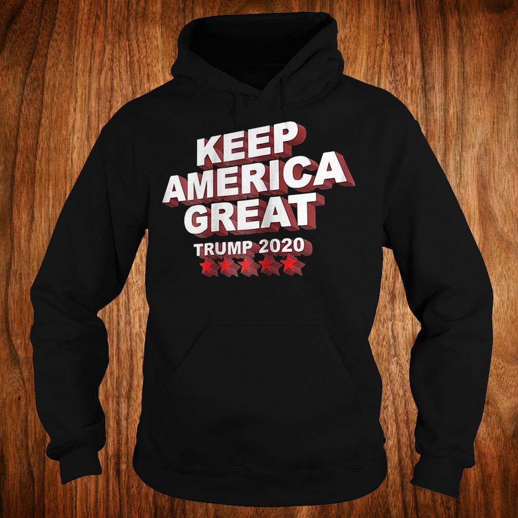 Keep America great Trump 2020 five stars shirt 1