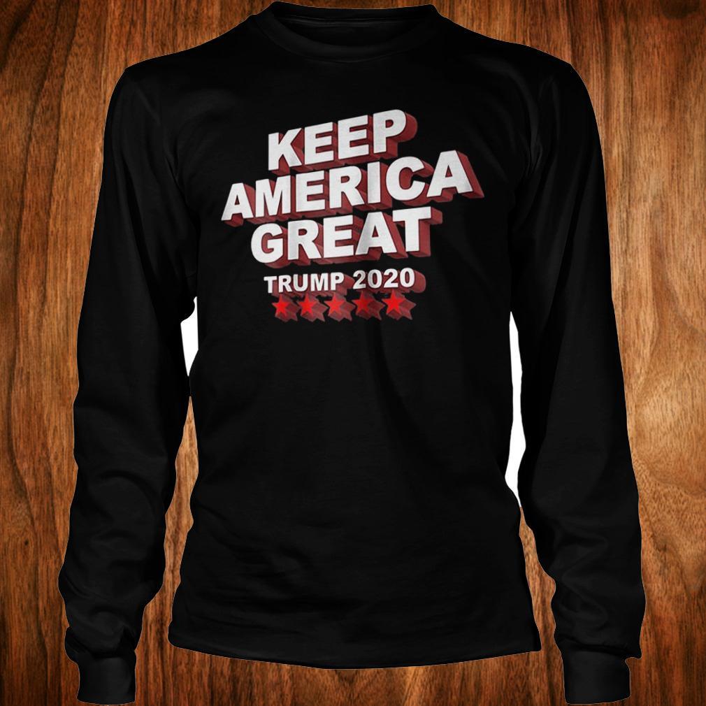 Keep America great Trump 2020 five stars shirt Longsleeve Tee Unisex