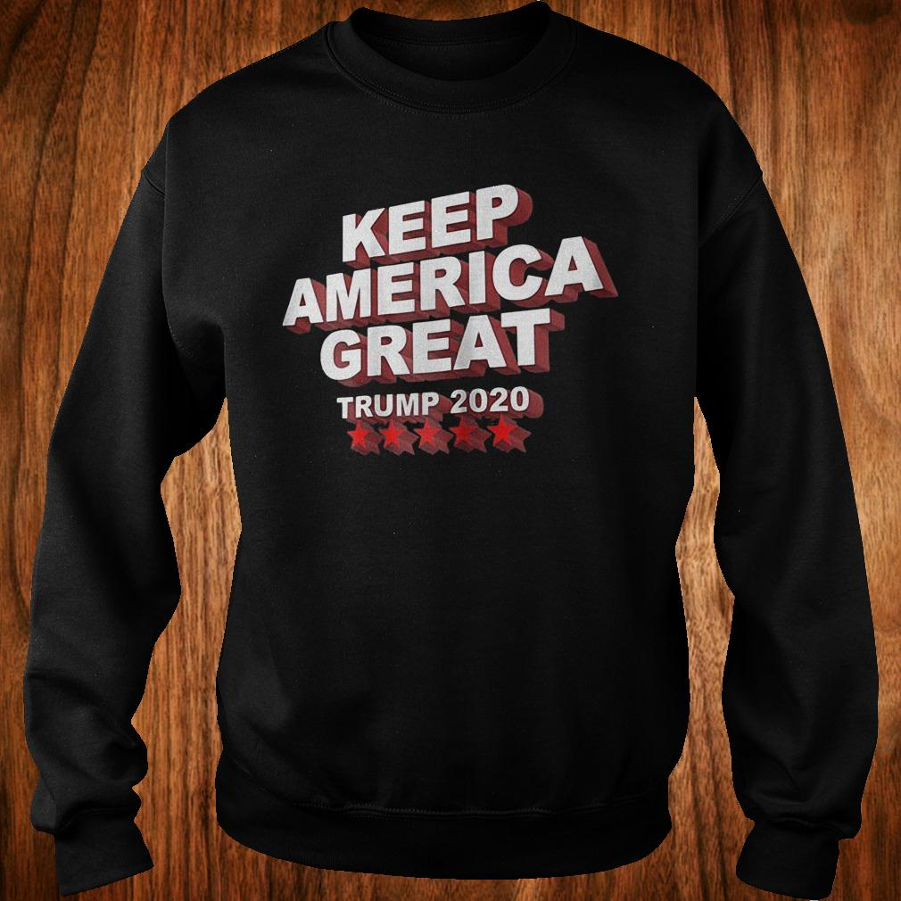 Keep America great Trump 2020 five stars shirt Sweatshirt Unisex