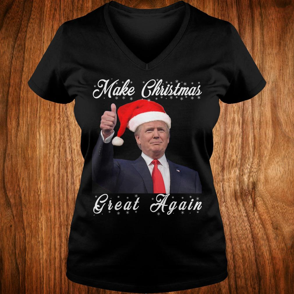 Make Christmas great again Donald Trump shirt Ladies V-Neck