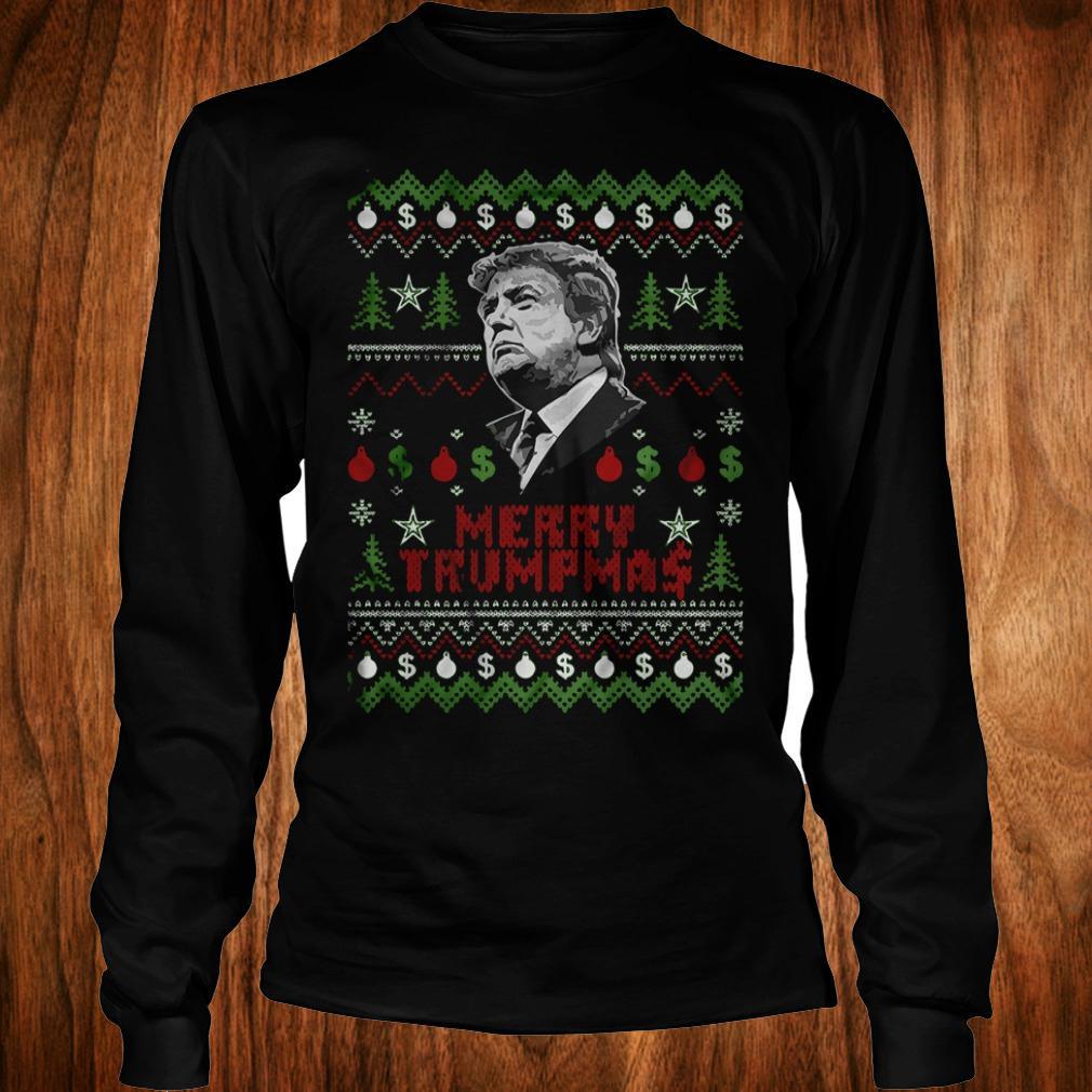 Merry Trumpmas ugly Christmas Donald Trump shirt Longsleeve Tee Unisex