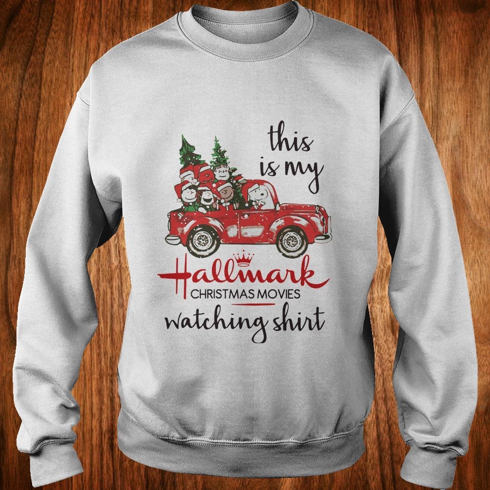 a0382d9a3 Snoopy this is my Hallmark christmas movie watching shirt, hoodie