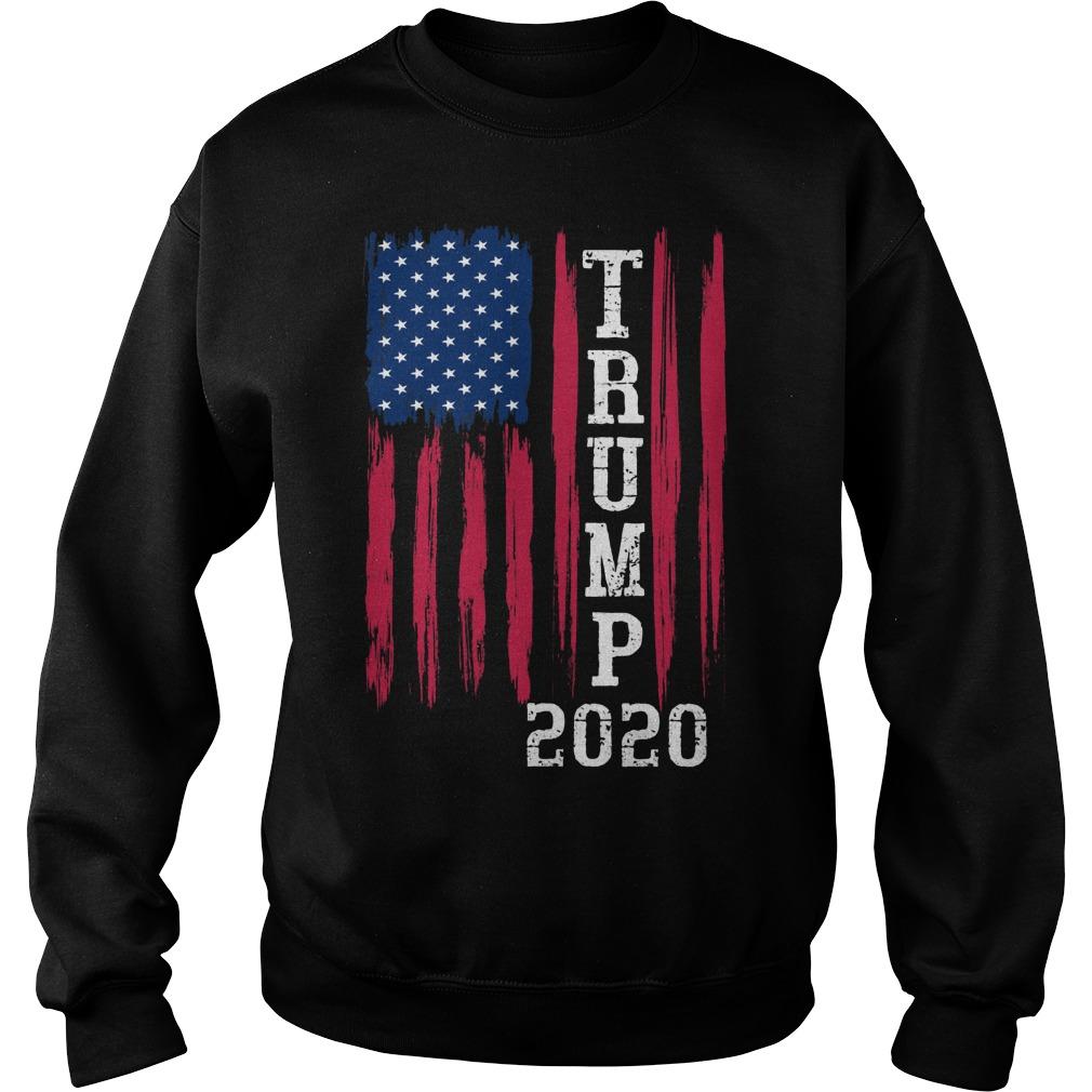- Trump 2020 American Flag Vintage Shirt