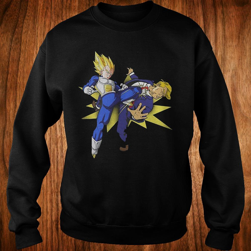 Vegeta hitting Donald Trump in the face shirt Sweatshirt Unisex