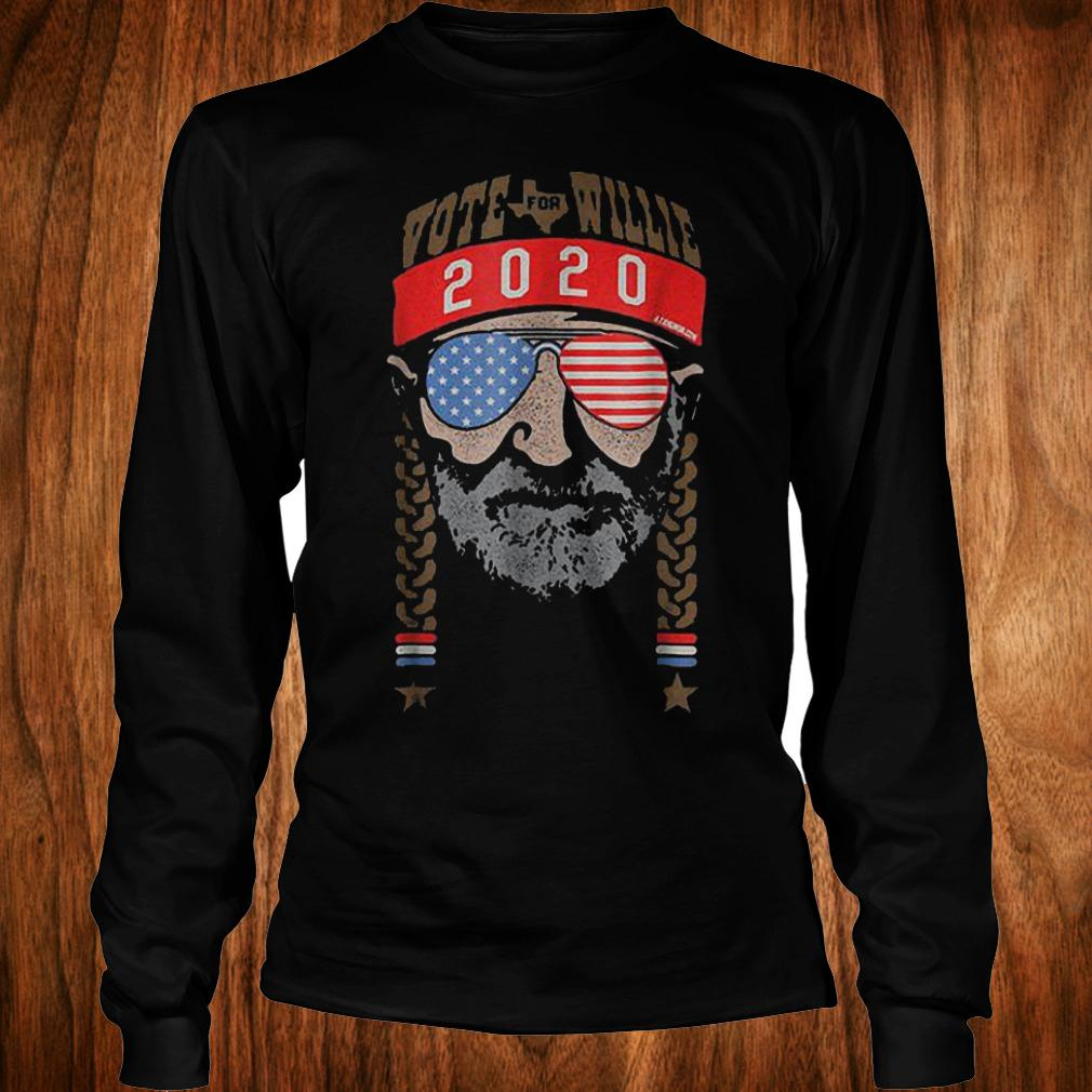 Vote For Willie Nelson 2020 shirt Longsleeve Tee Unisex