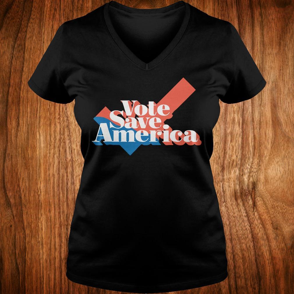 Vote save america shirt Ladies V-Neck