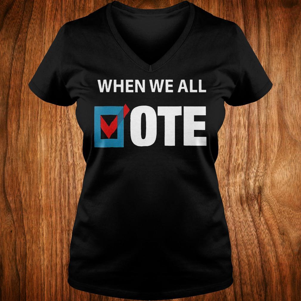 When We All Vote Check Square Version shirt Ladies V-Neck
