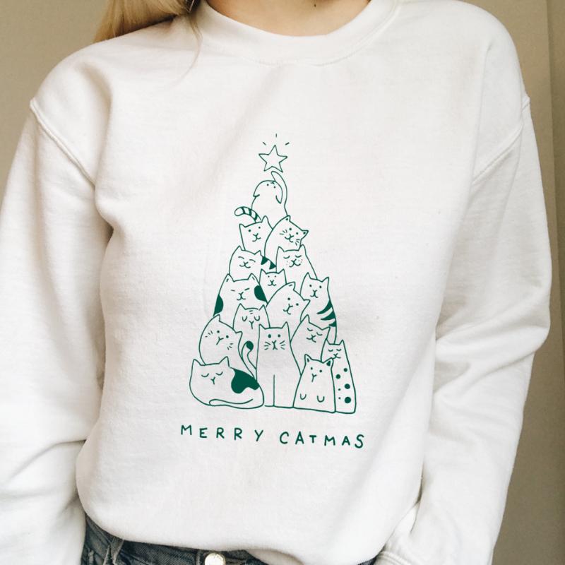- Merry catmas shirt