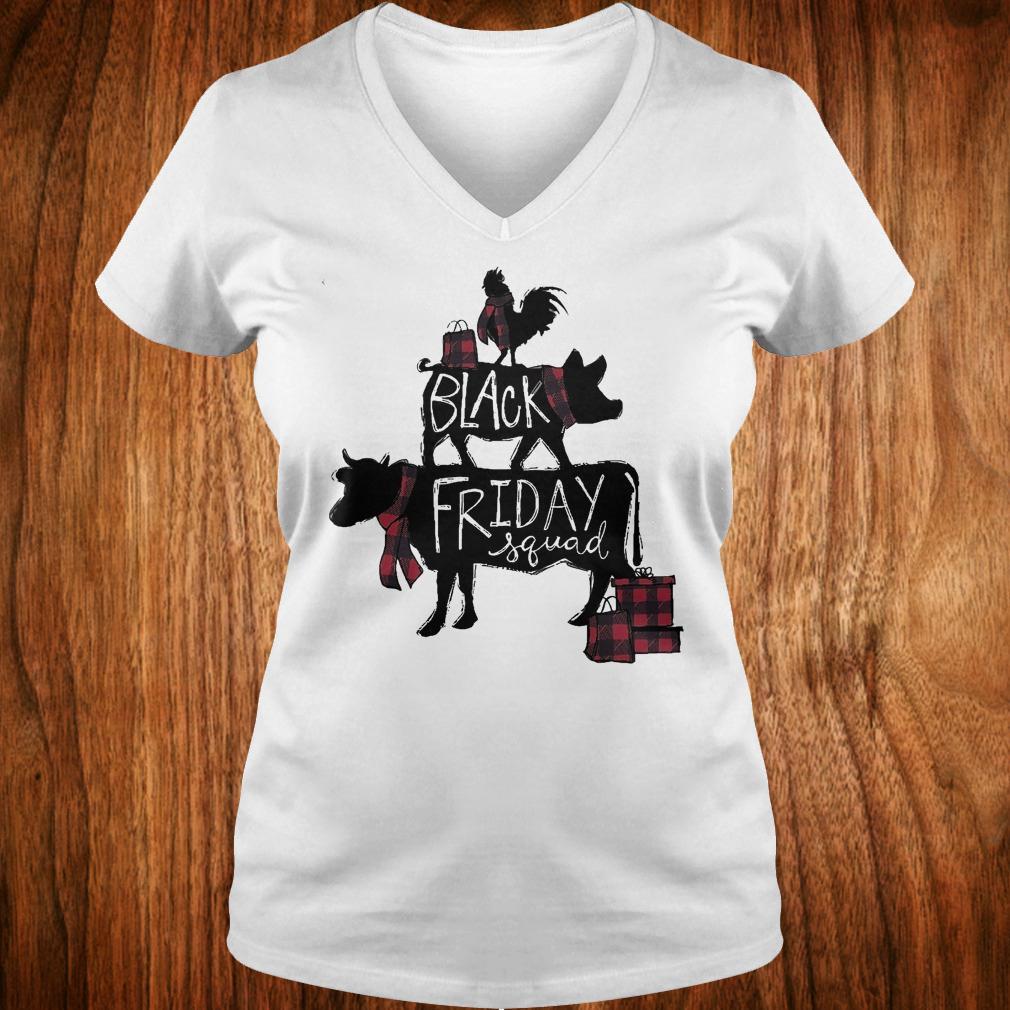 Black friday squad shirt Ladies V-Neck