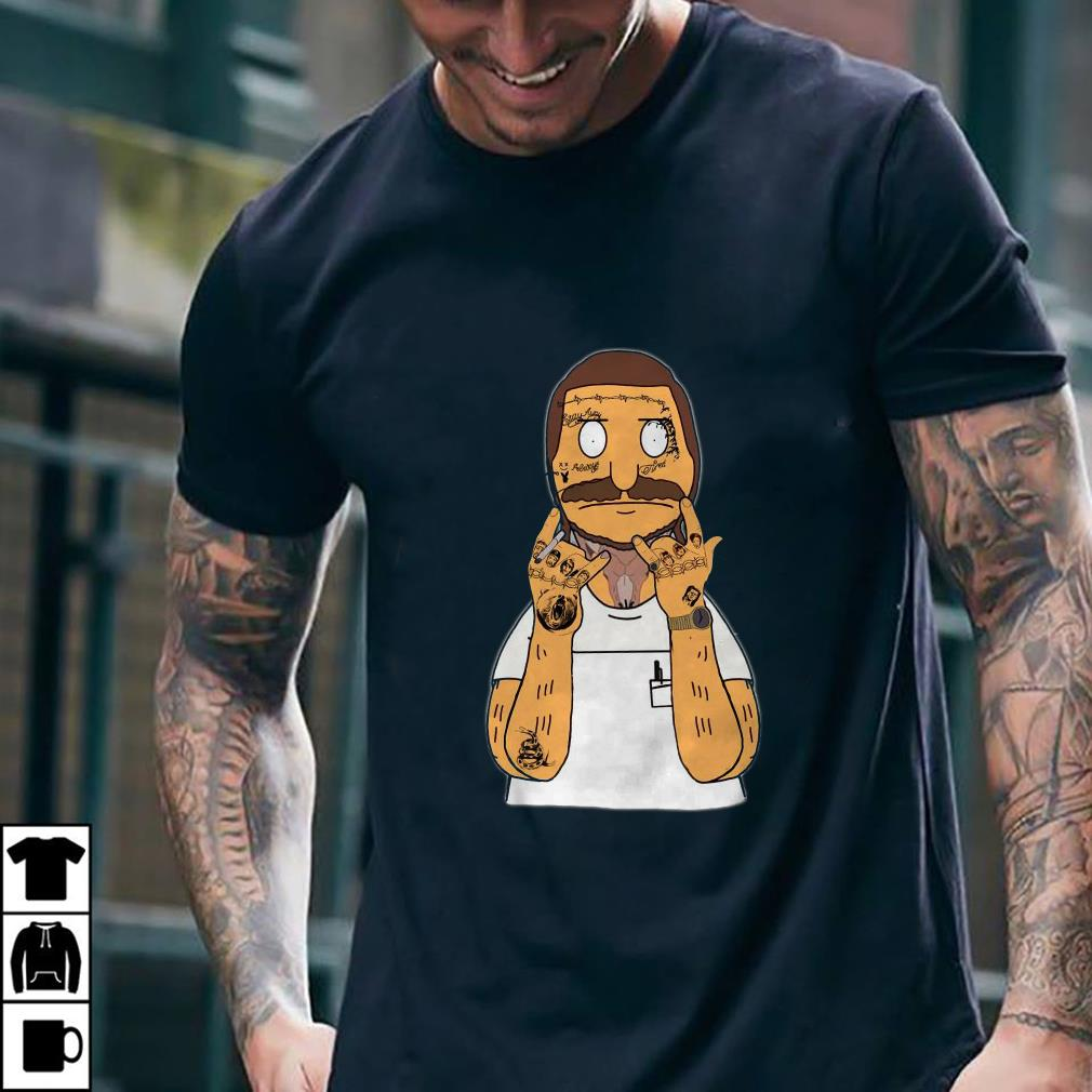 - Bobs Burger with Post Malone thanos bear snake shirt