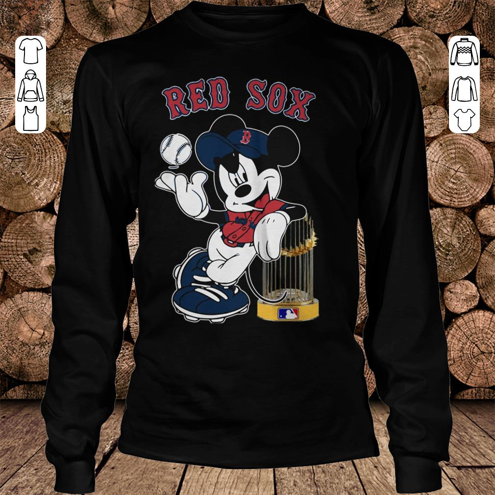 - Boston Red Sox Mickey Mouse shirt
