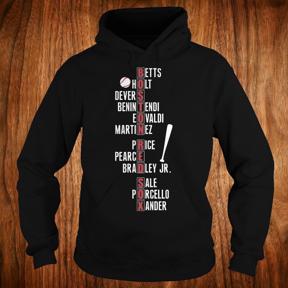 Boston Red Sox team names shirt Hoodie
