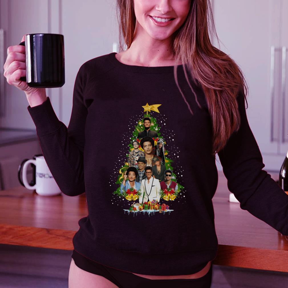 - Bruno Mars Christmas tree shirt