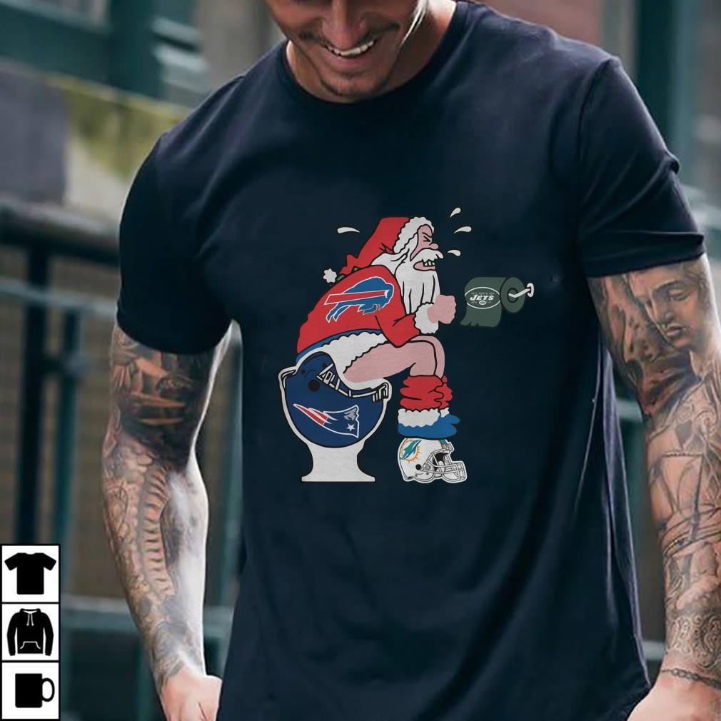 - Buffalo Bills Santa New England Patriots Toilet shirt
